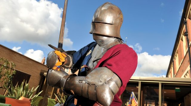 Image of a medieval knight at King Richard III Visitor Centre