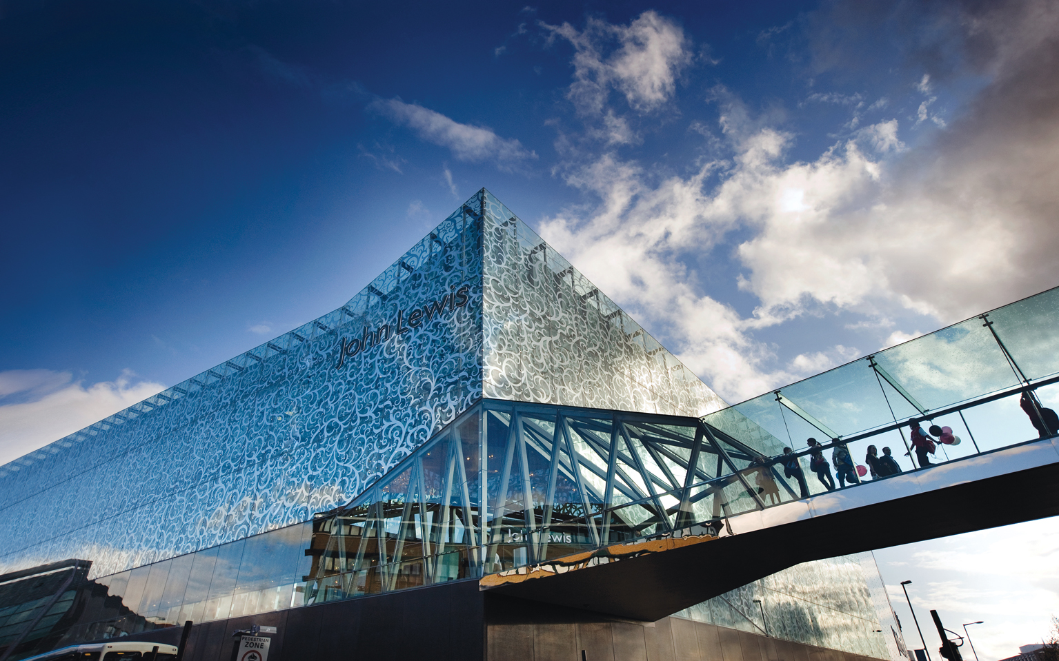 A building made of glass