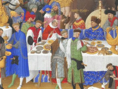 An illustration of medieval people