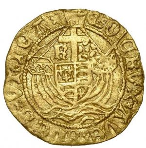 A medieval gold coin