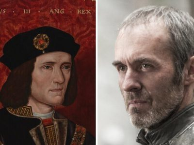 A painting of Richard III and a man with a beard