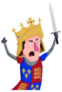 Cartoon character dressed as a king